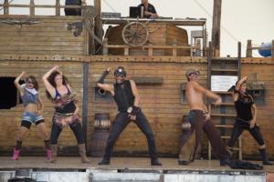 Сцена пиратски кораб, Аквапарк Несебър