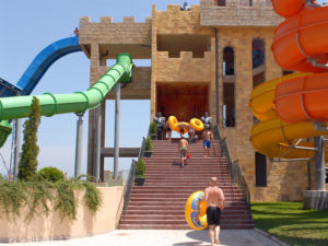 Кулите на Аквапарк Несебър